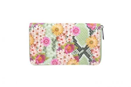 portemonnee met bloemenprint groen