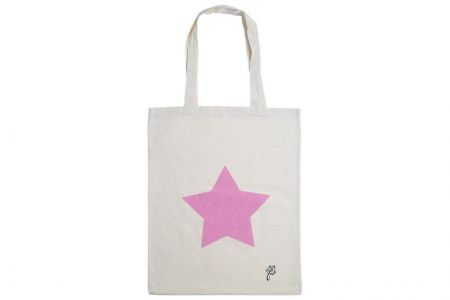 canvas shopper roze ster