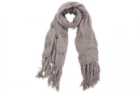 Grote gebreide dikke sjaal