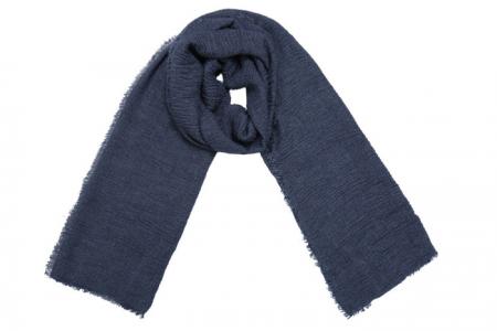 blauwe effen sjaal