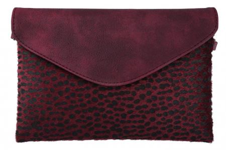 Enveloptasje Leopard Rood