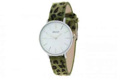 ernest horloge leopard groen
