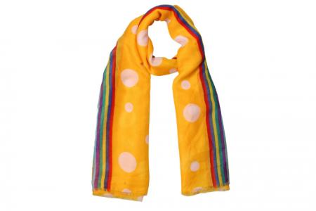 sjaal met leopard print en neon rand