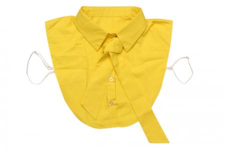 geel kraagje met strik