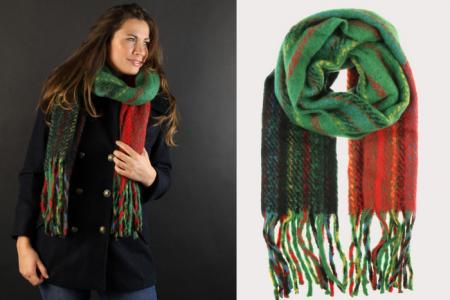 groen rood blauwe sjaal