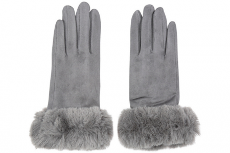 Handschoenen Fake Fur Lady Grijs