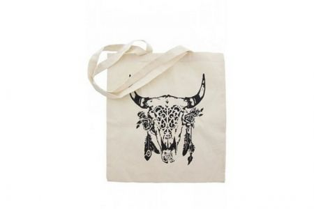 katoenen shopper zwarte buffalo print