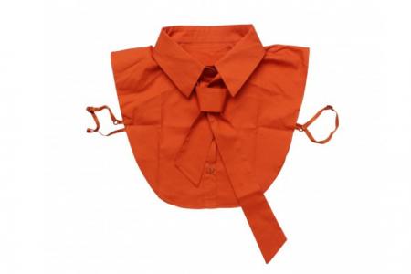 Kraagje met strik Oranje