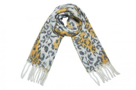 leopard fringe geel