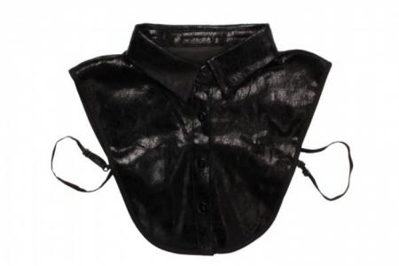 zwart metallic kraagje