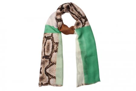 Mix patroon Snake sjaal Groen