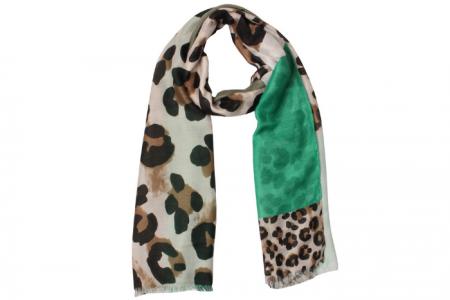 Mix patroon Luipaard sjaal Groen