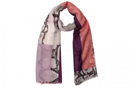 Mix patroon Snake sjaal Paars