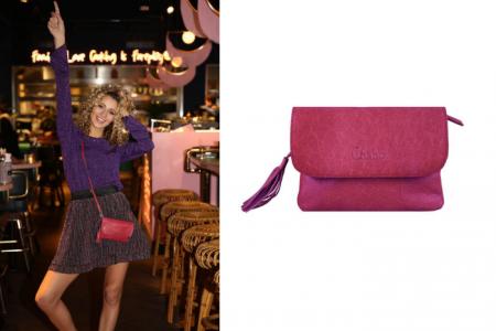 chabo little bink bag burgundy red
