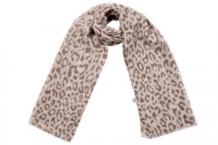 Sjaal met luipaardprint Beige