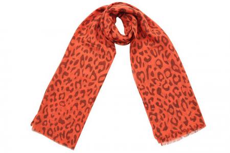 Sjaal met luipaardprint Oranje