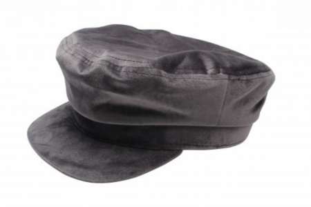 Bakerboy Cap Velvet Grey