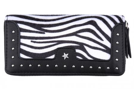 portemonnee met zebra bont