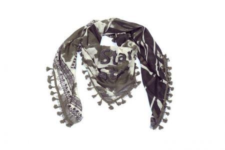 sjaal met sterren panter en zebra print