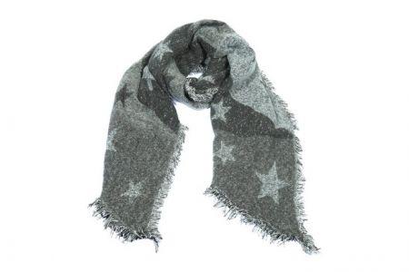 grijze sjaal met sterren print