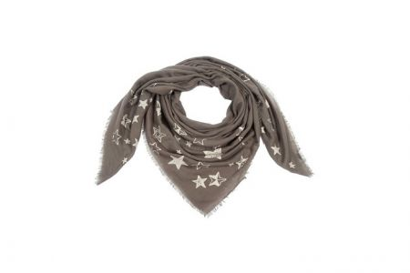groene sjaal met sterren