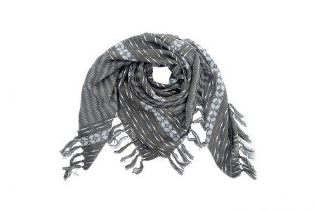 sjaal omslagdoek stripes grijs