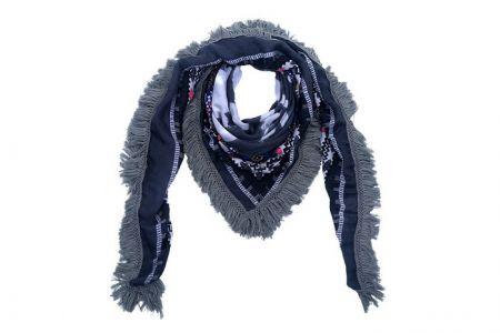 sjaal omslagdoek winter aztek grijs blauw