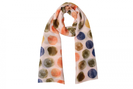 sjaal met rondjes multicolor