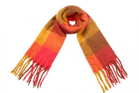 soft fringe sjaal geel oranje