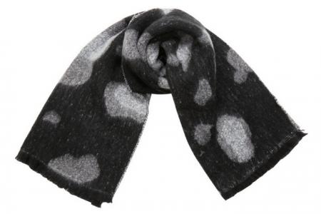 zwarte sjaal met witte vlekken