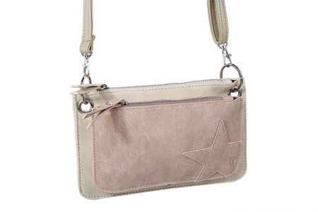 Double Star Clutch Beige