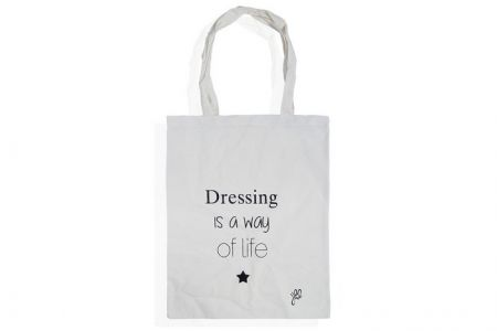 canvas shopper met quote tekst