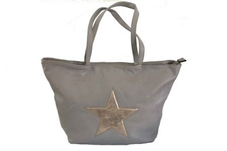 Ibiza star shopper met metallic ster