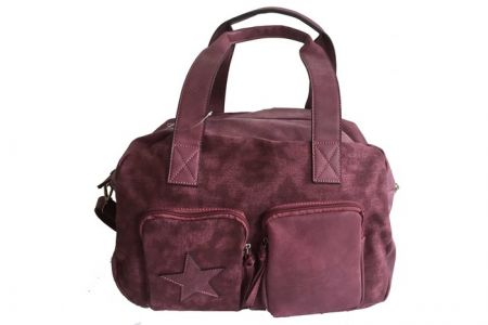 ibiza star bag / luiertas bordeaux rood