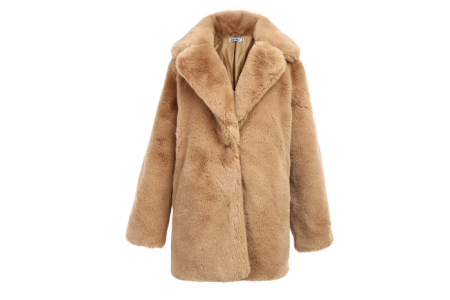 korte bontjas fake fur