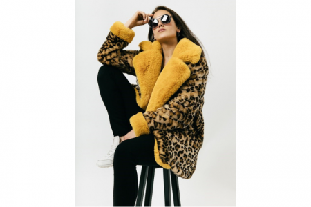 halflange faux fur jacket