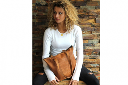 chabo little shopper bag cognac