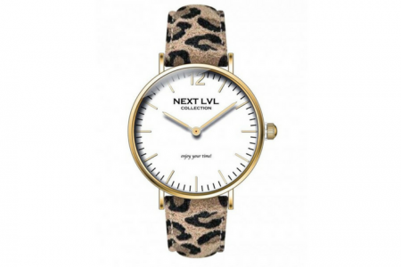 Next LvL Horloge Panterprint Off White