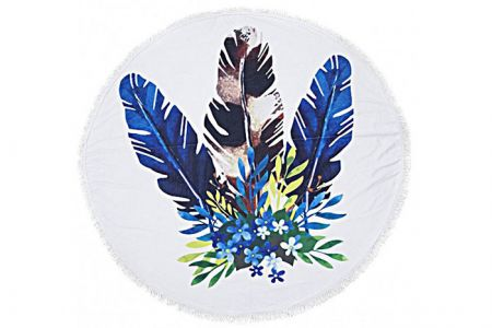 Beach Roundie Summer Feathers