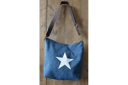 Ibiza star bag Canvas shopper denim blue