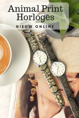 Animal print horloges